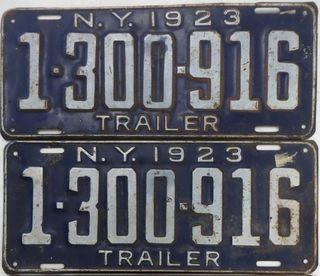 1923 trailer plates
